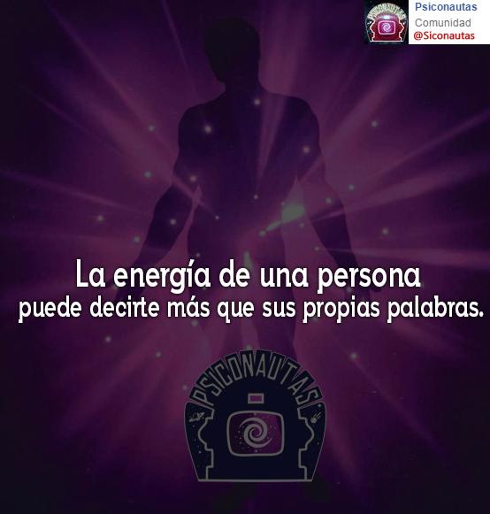 La energía de una persona…