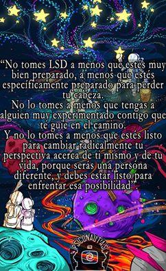 No tomes LSD a menos que estés muy bien preparado
