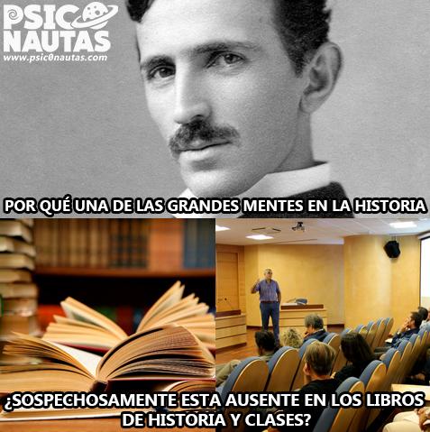 Ausencia en los libros de Tesla