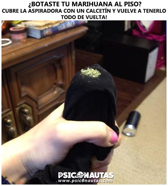 ¿Marihuana al piso?