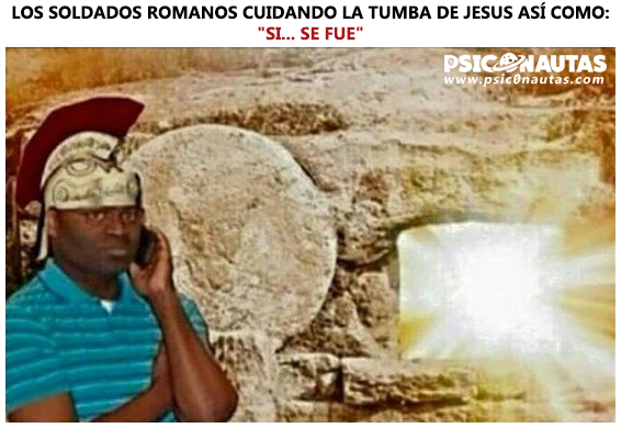 Los soldados romanos cuidando la tumba de Jesús así como…