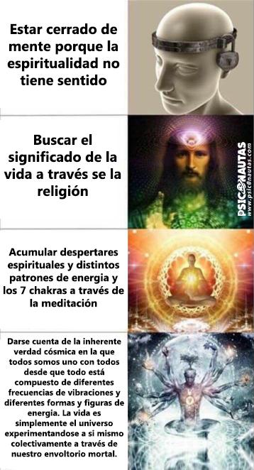 Estar cerrado de mente porque la espiritualidad no tiene sentido