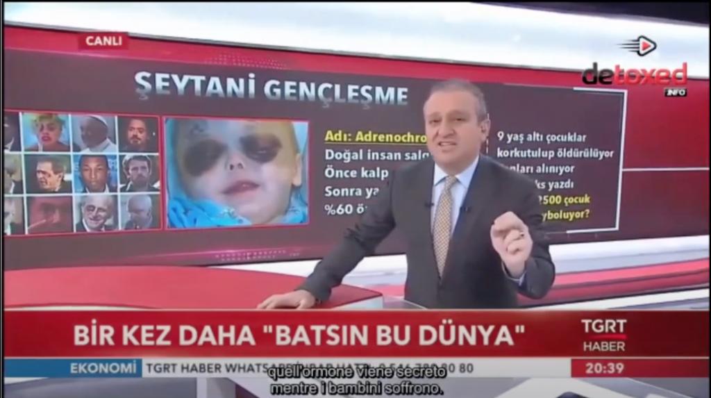 VIDEO: ADRENOCROMO EN TELEVISION ABIERTA EN TURQUIA